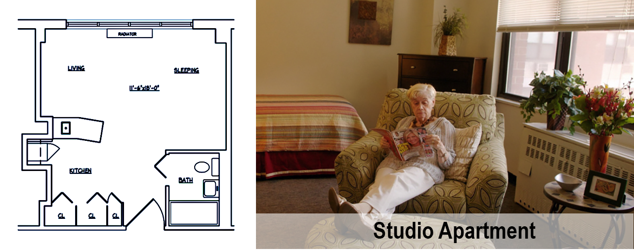 Kittay Senior Apartments - Studio Apartment