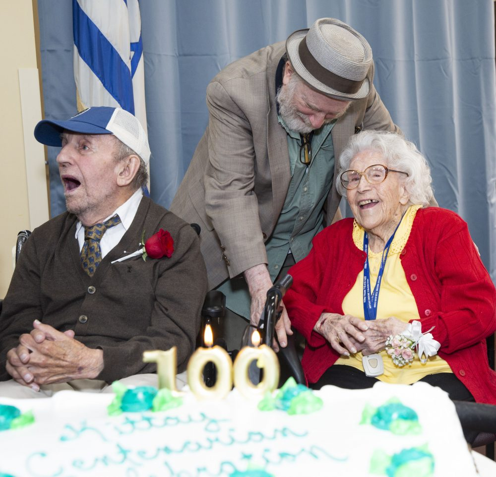 photo of centenarians at Kittay House celebration