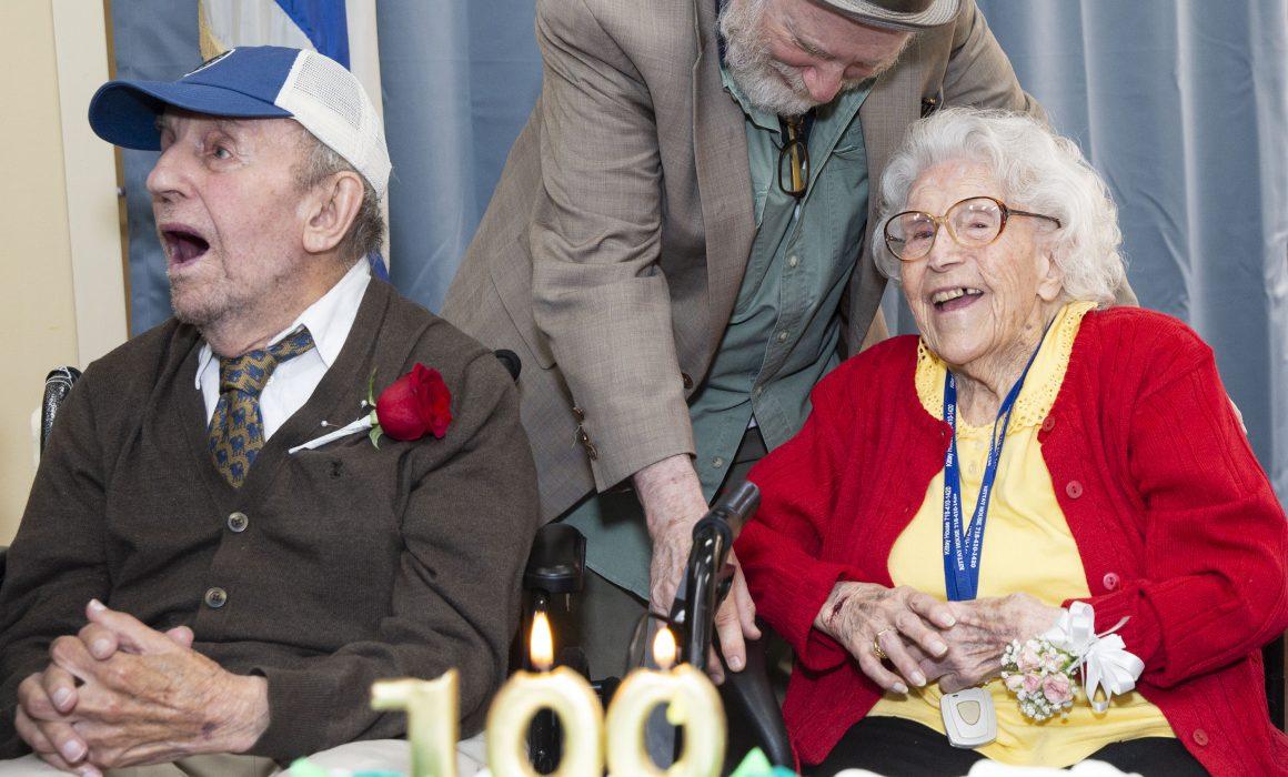 photo of centenarians at Kittay House celebration