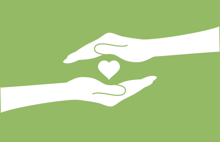 Image of two hands and a hearts