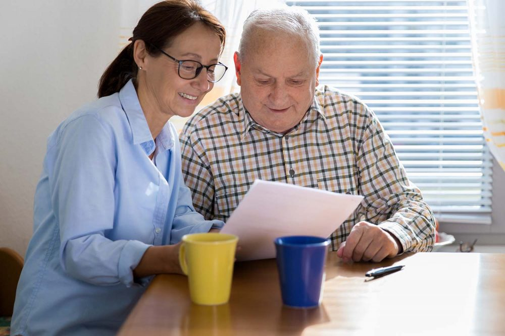 Managed care at home for a senior
