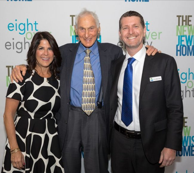 Three people at the New Jewish Home Eighty Over Eighty event 2020