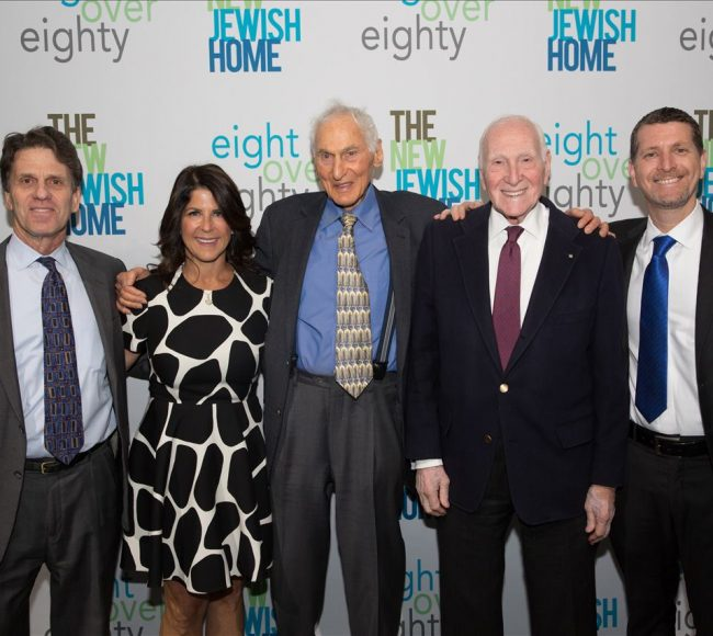 Five people at the New Jewish Home Eighty Over Eighty event 2020