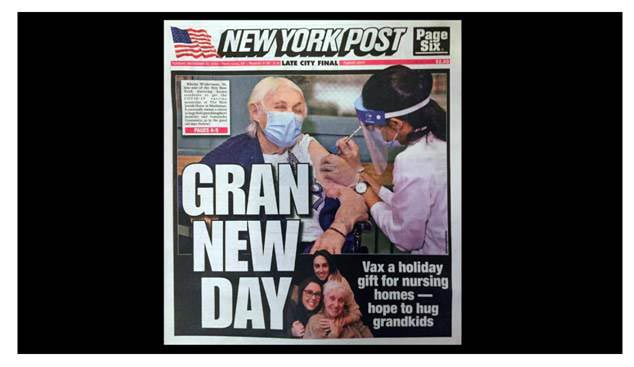 Rhona on the cover of the New York Post