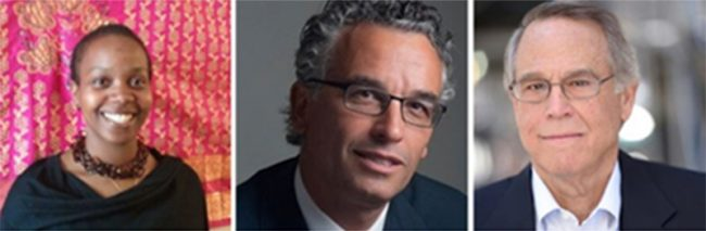 The New Jewish Home's new board directors Gingi Pica, Aran Ron, M.D. and Alan Altschuler